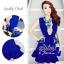 Korea Dress with Blue Premium Lace Design S159-95C11 thumbnail 1