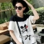 DR-LR-141 Lady Minnie Playful Mickey Print Dress in Black and White thumbnail 4