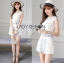 Lady Janet Blue and White Embroidered Cropped Top and High-Waist Shorts Set L272-7902 thumbnail 7