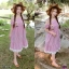 Maxxi Dress สายแต่งดอกไม้ ทรงปาดไหล่ thumbnail 2