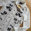 Lady Ana Butterfly Embroidered Guipure Lace Shirt Lace L157-65C04 thumbnail 8