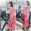Maxi Dress เดรสยาวลายดอกไม้สีชมพูสวยสดใส thumbnail 1