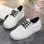 รองเท้าผ้าใบแฟชั่นแพลตฟอร์ม ทำจากผ้าใบสีทูโทนสดใสด้านนอก-ใน thumbnail 9