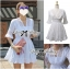 Lady Brie Feminine Flared Sleeve Embroidered with Frill Dress L155-65C03 thumbnail 4