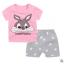 ไซส์ 80 90 100 ชุดเสื้อกางเกง พิมพ์ลายใส่สบายหน้าร้อน - ลายกระต่าย