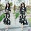 Maxi Dress แมกซี่เดรสยาว คอวี งานพิมพ์ลายดอกดอกไม้ thumbnail 2