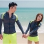ชุดว่ายน้ำแขนยาว สีเทา กางเกงเขียวสะท้อนแสง (เซ็ต 4 ชิ้น) thumbnail 10