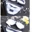SM-V1-451 ชุดว่ายน้ำบิกินี่ทูพีช ลายขวางสลับสีกรมท่า ครีม สายคล้องคอ กางเกงสายผูกข้างสวยๆ thumbnail 13