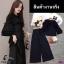 เสื้อลูกไม้ช่วงบน แต่งระบายกุ้นดำ ช่วงกางเกงเป็นผ้า 4way thumbnail 6