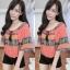 เสื้อชีฟองแต่งพู่ด้านหน้าสไตส์สาวโมฮีเมี้ยนสีสันสดใสผ้าใสสบาย thumbnail 2