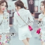 Lady Grace Minimal Chic Colourful Embroidered White Shirt and Shorts Set L257-85C07 thumbnail 2