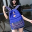 Bag Fashion กระเป๋าเป้สะพายหลัง กระเป๋าลายผ้าซินชาวเหนือ รุ่นMM (สีดำ) (รุ่น 2GnUam2) thumbnail 2