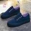 รองเท้าผ้าใบแฟชั่นแพลตฟอร์ม ทำจากผ้าใบสีทูโทนสดใสด้านนอก-ใน thumbnail 6