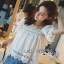 Lady Daphne Feminine Vintage Cotton and Lace Cropped Top L255-69B11 thumbnail 2