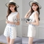 Lady Janet Blue and White Embroidered Cropped Top and High-Waist Shorts Set L272-7902 thumbnail 1