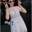 Lady Grace Pretty Floral Embroidered Sheer Tulle Dress in White thumbnail 9