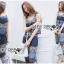 Lady Cassandra Casual Chic Striped Lace Tank Top and Pants Set L266-7911 thumbnail 11