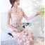 Lady Sophia Chinoise Baby Pink Lace Dress เดรสทรงกี่เพ้าผ้าลูกไม้สีชมพูอ่อน thumbnail 3