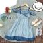 Dress เดรสผ้าชีฟองลายริ้วใหญ่ แขนเปิดไหล่ thumbnail 9