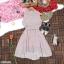 Dress เดรสสั้นลายริ้ว คอจีน แขนกุด ติดกระดุมด้านหน้า thumbnail 7
