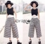 Lady Celina Minimal Chic Cropped Top and Striped Pants Set L259-7918 thumbnail 9