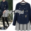 DR-LR-236 Lady Jewellery Embellished Sweater and Jersey Dress Set thumbnail 6