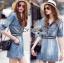 Lady Jennifer Sporty Chic Denim Mini Dress L255-79C15 thumbnail 1