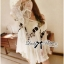 Lady Emily Off-Shoulder Insert Lace Floral Embroidered Flared Mini Dress L154-65E02 thumbnail 2