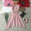 Dress เดรสคอกลมติดกระดุมหลัง 1 เม็ด แขนกุดระบาย thumbnail 4
