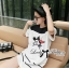 DR-LR-141 Lady Minnie Playful Mickey Print Dress in Black and White thumbnail 5