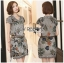 Lady Victoria Sweet Vintage Floral Printed Cotton Dress with Belt L199-79C06 thumbnail 6