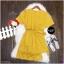 Jumpsuit ชุดจั้มสูท #จั้มสูทสีเหลือง งานผ้าคอมพ์เนื้อดี thumbnail 5