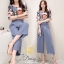 Daisy geogior soft blue and pant with belt thumbnail 2