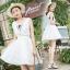 Dress เดรลูกไม้แขนกุด คอวีหน้า/หลัง thumbnail 2
