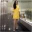 Dress เดรสผ้าลูกไม้ทรงสวยใส่เข้ารูปงานแขนระดับศอกปลายระฆัง thumbnail 4