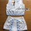 Lady Janet Blue and White Embroidered Cropped Top and High-Waist Shorts Set L272-7902 thumbnail 13
