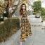 Dress เดรสยาวแขนสั้นพิมพ์ลายกราฟฟิกส์ thumbnail 1