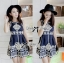 Lady Annie Vintage Style Embroidered Sleeveless Dress thumbnail 3