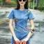 Lady Alice Vivid Flower Embroidered Denim Mini Dress L205-79C01 thumbnail 1