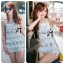 Lady Stephanie Pretty Embroidered Lace Mini Dress L155-69C14 thumbnail 1