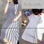 Dress แขนสั้น สีพื้น งานผ้าโฟร์เวย์ ดีเทลตัดต่อด้านข้าง thumbnail 5