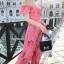 Maxi Dress เดรสยาวลายดอกไม้สีชมพูสวยสดใส thumbnail 4