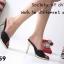 รองเท้าส้นเข็ม แบบหน้าสวม ดีไซน์หรู ตัดขอบกากเพชร thumbnail 10