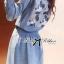 DR-LR-269 Lady Samantha Mickey Mouse Print Ribbon Denim Shirt Dress thumbnail 3