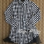DR-LR-233 Lady Diana Glam Ruffle Houndstooth Shirt Dress thumbnail 6