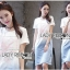 Lady Tamara Street Chic Sequin Embroidered Jersey and Denim Dress L274-7516 thumbnail 3