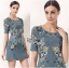 Lady Lila Sweet Feminine Floral Embroidered Denim Dress L200-85C03 thumbnail 2