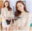 Jessica Sweet Elegant High-Neck Guipure Lace Dress in Off-White L219-75C04 thumbnail 2