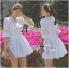 Lady Brie Feminine Flared Sleeve Embroidered with Frill Dress L155-65C03 thumbnail 1