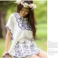 DR-LR-060 Chill Out Floral Bunch Embroidery Mini dress thumbnail 7